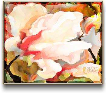 Watercolor like digital image of a tulip tree blossom