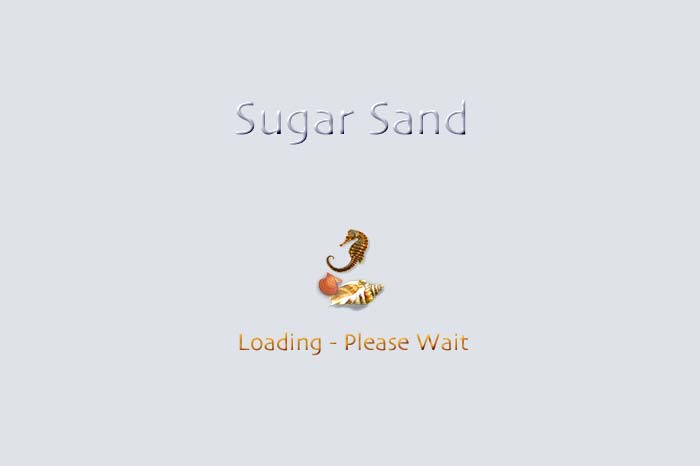 Cover page to slide show Sugar Sand.