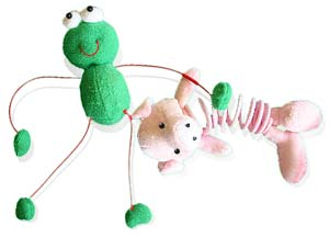 Cat toys Froggy and Piggy
