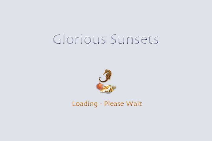 Cover page to slide show Glorious Sunsets.