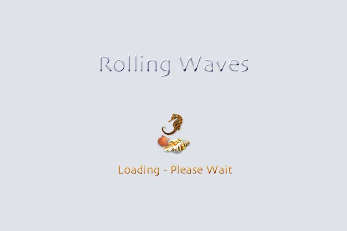Cover page to slide show Rolling Waves.